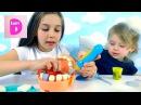 Пластилин Плей До. Набор Доктор Зубастик. Clay Play-Doh. Set Dr. Drill.
