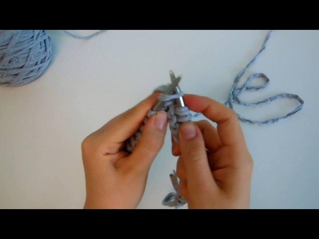 Мастер-класс: пуф из трикотажной пряжи. Часть 1. Вяжем внешний чехол.