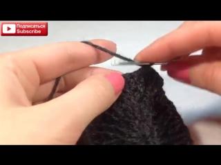 ☆Мужская теплая шапка, вязание крючком для начинающих, crochet.