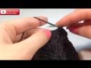 ☆Мужская теплая шапка вязание крючком для начинающих crochet