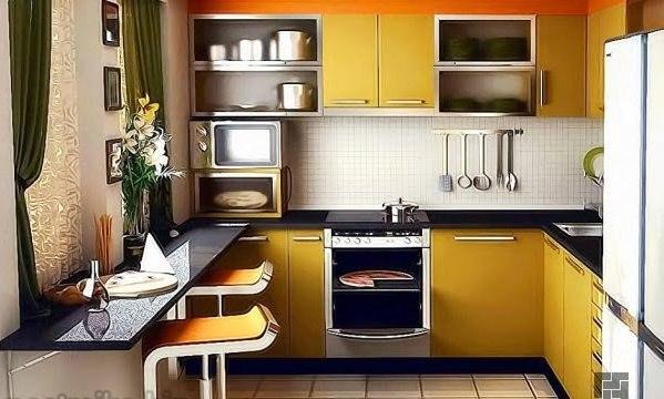 Дизайн кухни для маленькой кухни 8 кв.м