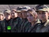 Будни женского батальона сирийской армии