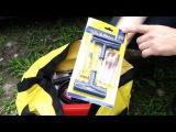 Автомобильный набор. Набор автомобилиста с компрессором, аптечкой и огнетушителем для техосмотра.