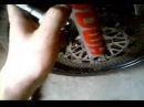 CBR 400 RR NC29 Forks, front wheel removing\Вилка и колесо