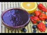 Blueberry Trinidad Moruga Scorpion Peppersauce (hot sauce). - Chris De La Rosa