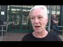 Великобритания: Анти-жестокость демо в Лондоне отмечает 5-лет со дня. о смерти Марка Дагган.