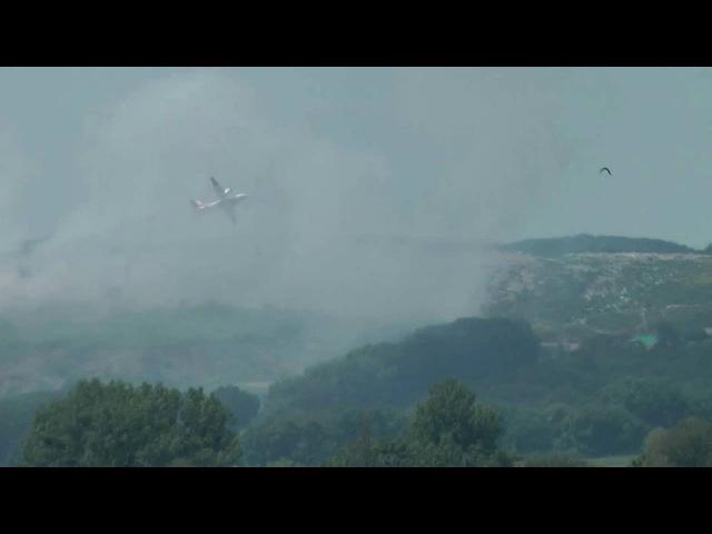 Для гасіння пожежі на Грибовицькому сміттєзвалищі використовують авіацію