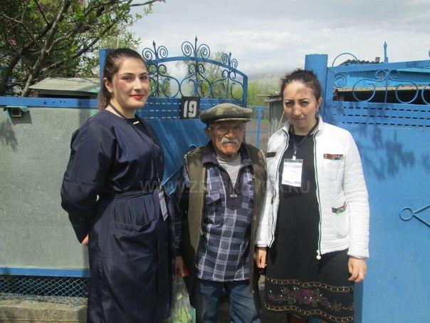 Сотрудники ПФР в Зеленчукской районе посетили ветеранов Великой Отечественной войны Ивана Кирилловича и Петра Владимировича Руденко