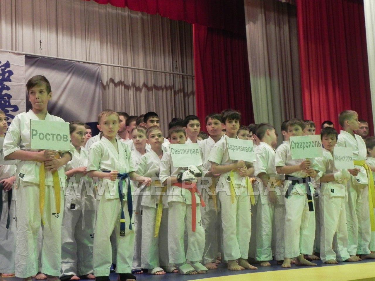 В станице Зеленчукской прошло открытие Первенства по карате киокушинкай