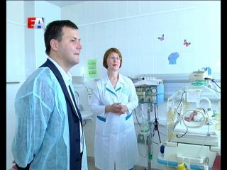 Глава Администрации Первоуральска посетил Перинатальный центр и родильное отделение Городской больницы.