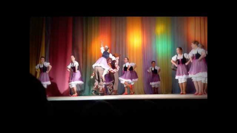 Танец кантри Где то в Техасе