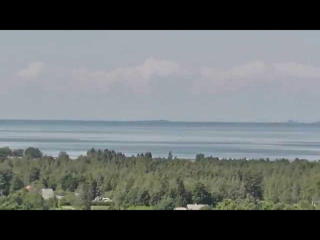 Amazing ZOOM Panasonic HC-V520 Sorgu Island Baltic Sea. Distance 20 km!