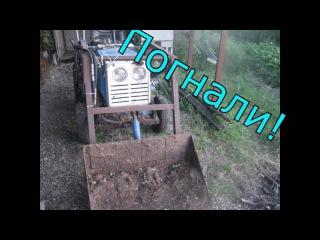 КМЗ-012 Самодельный погрузчик|ОБЗОР