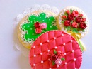 Polka dot Lace Quilting cookies