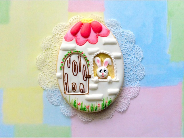 Easter egg - Bunny house cookie.
