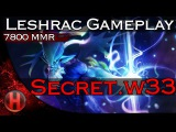 Secret.w33 7800 MMR Leshrac Gameplay Dota 2
