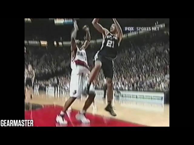 Tim Duncan - 36 pts, 15 reb, 7 asts vs Trailblazers Full Highlights (2003.02.11)