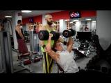 Тренировка плеч с Сергеем Алиевым. Фитнес клуб Олипик home