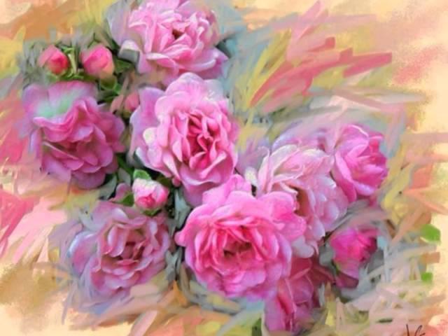 Современный мексиканский художник Alberto Guillen - удивительно красивые цветы.