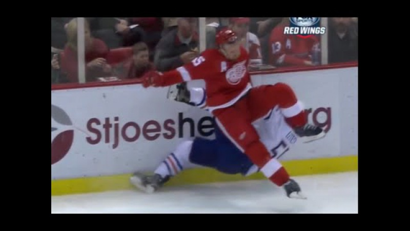 Niklas Kronwall Huge Hit on Mark Letestu - Kronwalled