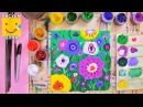 Как нарисовать полевые цветы - урок рисования для детей от 4 лет, гуашь, рисуем дома поэтапно