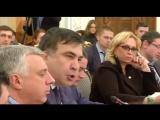 Видео ссоры Авакова и Саакашвили. Аваков кидает стакан с водой (Видео фейсбук Авакова)