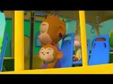 Детская песенка про автобус. Мультфильм для малышей. Колеса у автобуса