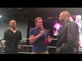 Triple H  Arnold Schwarzenegger do QA at Arnold Sports Festival_ WWE.com Exclusive, March 5, 201