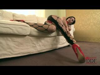 Pantyhose, Silky Fetish ∞ Audrey Hot Babe in Sexy Leg Lingerie Leggins Anal Красивая брюнетка в колготках сексуальные ножки