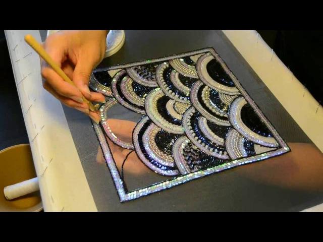 Вышивка люневильским крючком от Марины Калитиной смотреть онлайн без регистрации