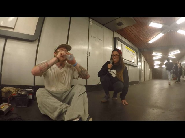 Girl joins rapper in the subway for an impromptu jam session (INFIDELIX ft. EllandM)