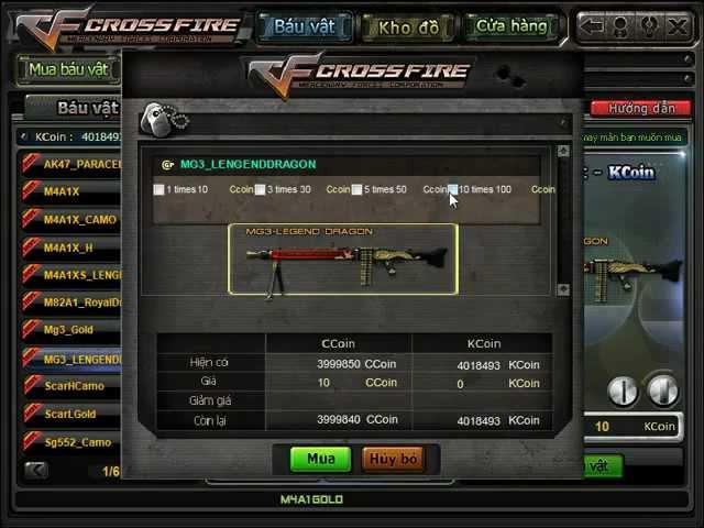CF OFFLINE - QCMM - MG3 LENGENDDRAGON