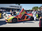 Bullfest 2016 Start at Lamborghini Miami  80+Lambos Get ready for Crazy Supercar Show Part 1