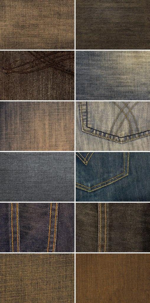 12 джинсовых текстур, в высоком разрешении.