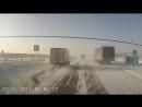 Массовое ДТП с участием двух десятков авто произошло на трассе М5 в Челябинской области. (29.01.2016)