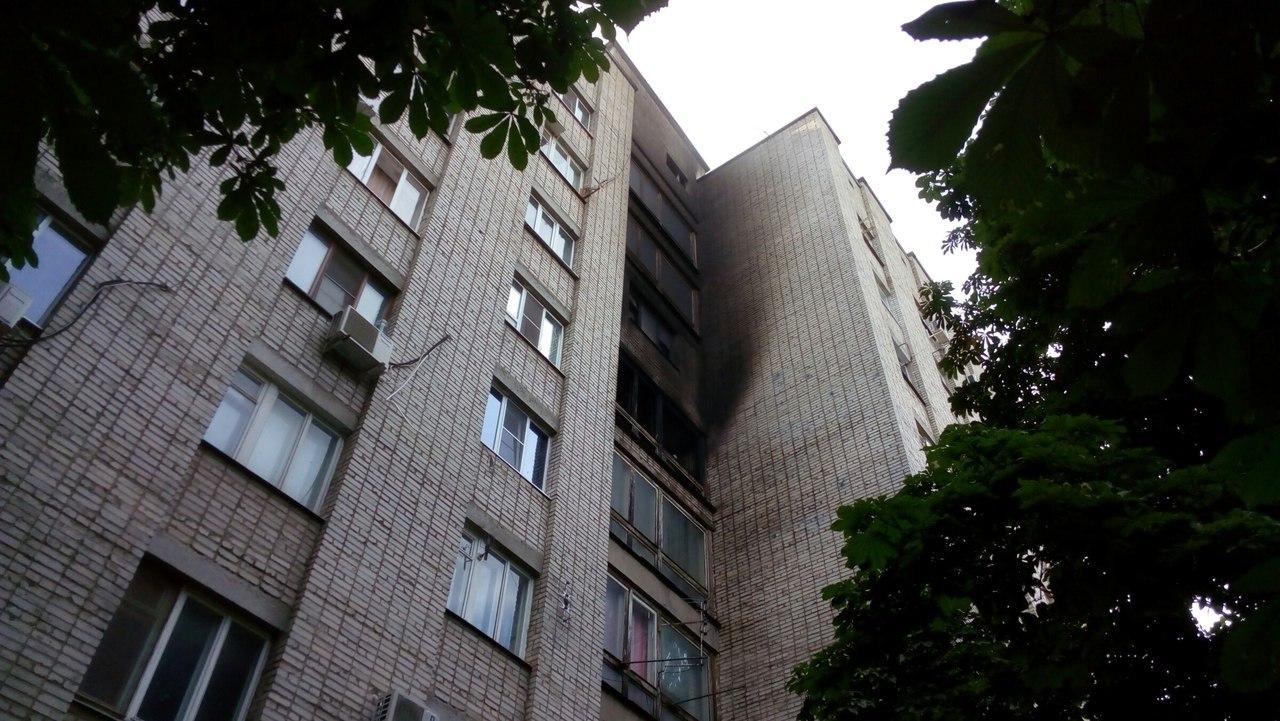 В Таганроге на Западном горела гостинка