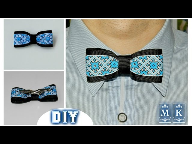 DIY:Бабочка-галстук с интересным креплением/The bow tie with an interesting clamp