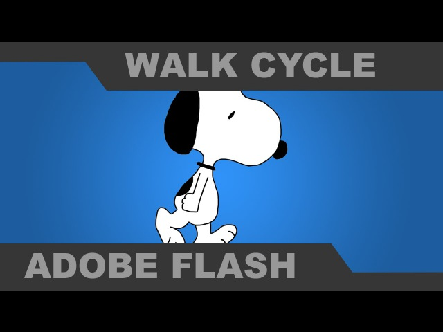 Animate a Peanuts Walk Cycle with Snoopy - Adobe Flash