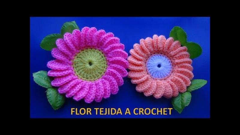 Flor margarita tejida a ganchillo 6 paso a paso fácil de tejer