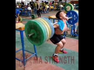 Shen Guowei, приседания 200 кг