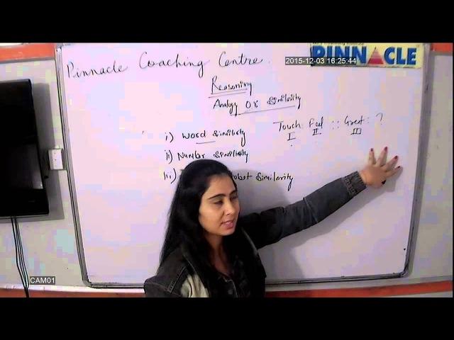 Reasoning Analogy or Similarity Part 12 SSC CGL by Pinnacle Coaching