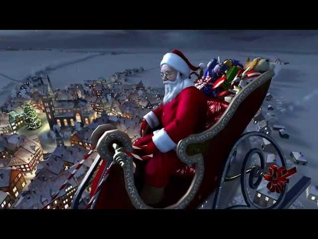 2013 ☆ ☆ Santa Claus Christmas in Snowy Village ☆ ☆ 720HD