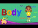 Kids vocabulary - Body - parts of body - Learn English for kids - English educational video