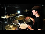 Cymbal Accents - Paradiddle/Inverted Paradiddle Rudiment Combo 100bpm: Free Drum Lessons