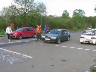 Golf 5 GTI vs Ваз2109;)