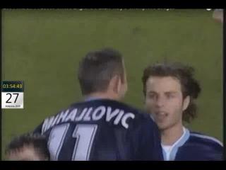 Лига Чемпионов 2000-01 Лидс 3-3 Лацио Михайлович