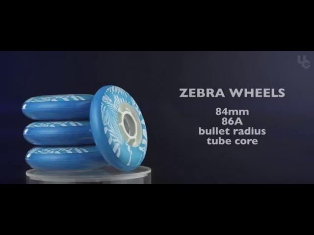 UC Wheels Wildlife collection - Zebra 84mm wheels