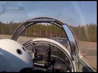 Как это было  Военный летчик сажает боевой истребитель на трассу М1.  Видео из кабины пилота