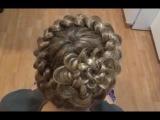 Плетение косичек.Причёска Корзинка Французским Плетением с цветком.Hairstyle.Franch Braids.Tutorial.