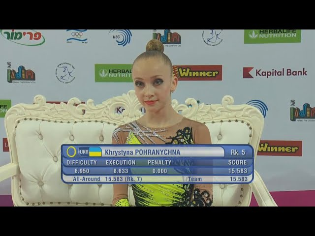 Khrystyna Pohranychna Hoop Qual - European Championships Holon 2016